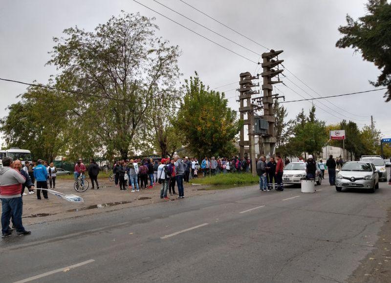 Manifestación en el marco de una jornada de lucha nacional.