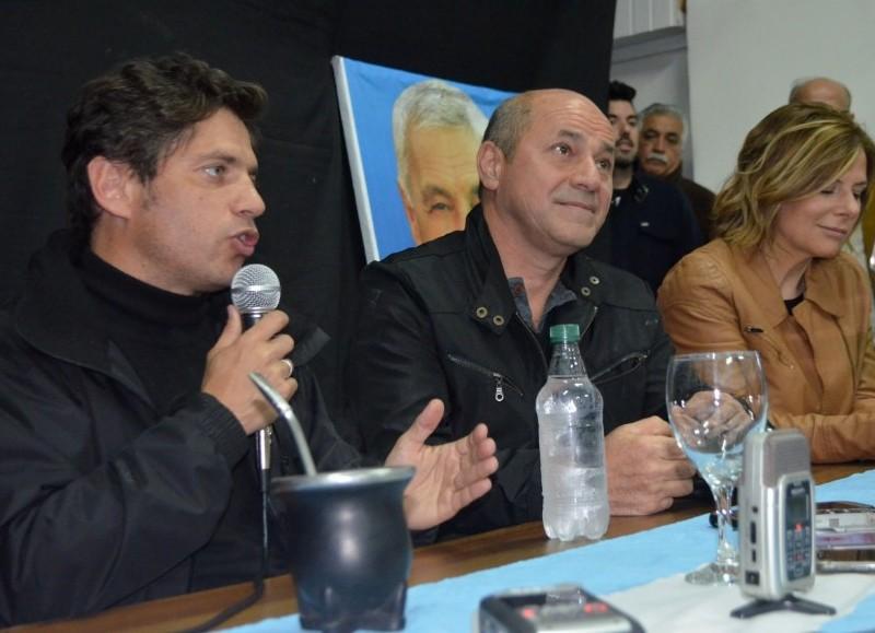 Axel Kicillof, Mario Secco y Florencia Saintout.