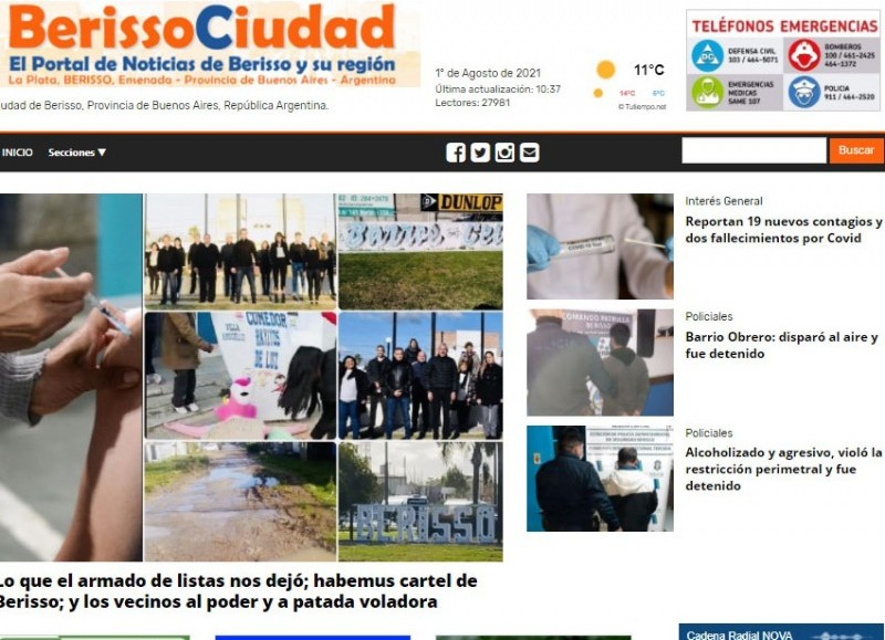 El primer diario virtual de la Capital Provincial del Inmigrante.