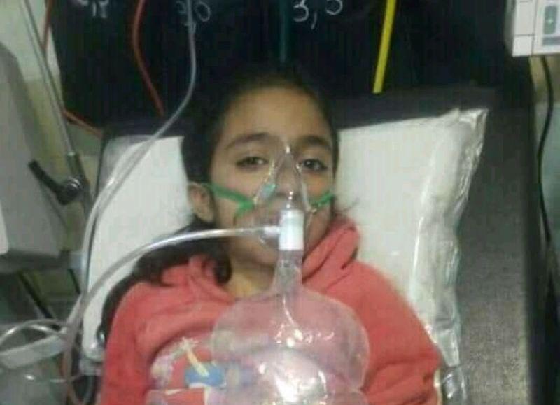 La niña atraviesa complicaciones de salud.