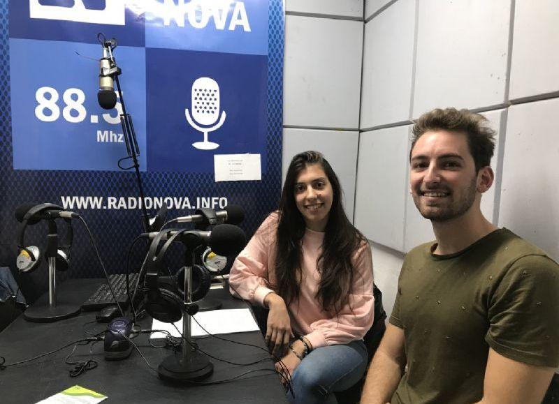 Johanna Quintana y Emiliano Stapich, en el aire de BerissoCiudad en Radio.