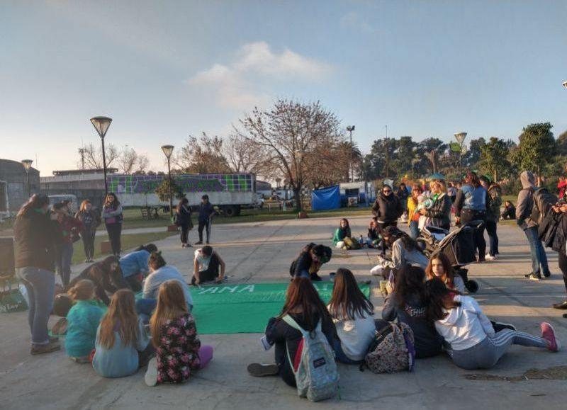 Manifestación en el Parque Cívico.