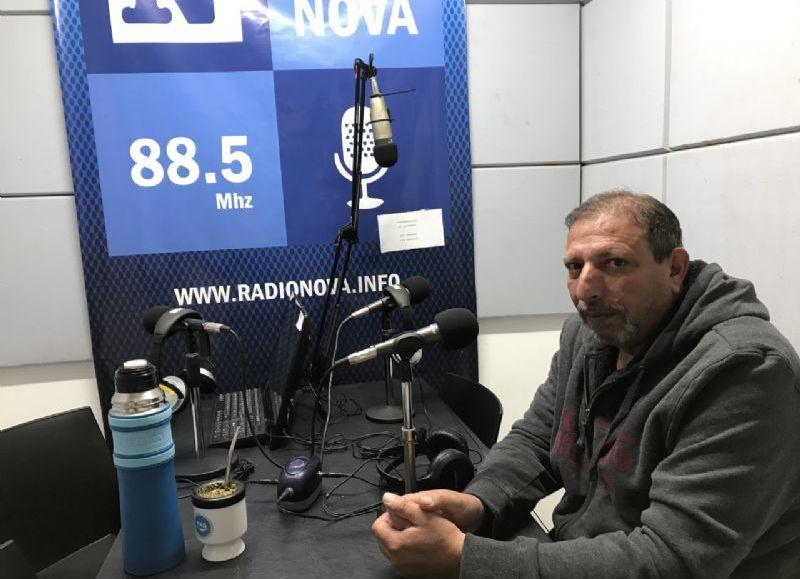 Jorge Di Pietro, en el aire de BerissoCiudad en Radio.