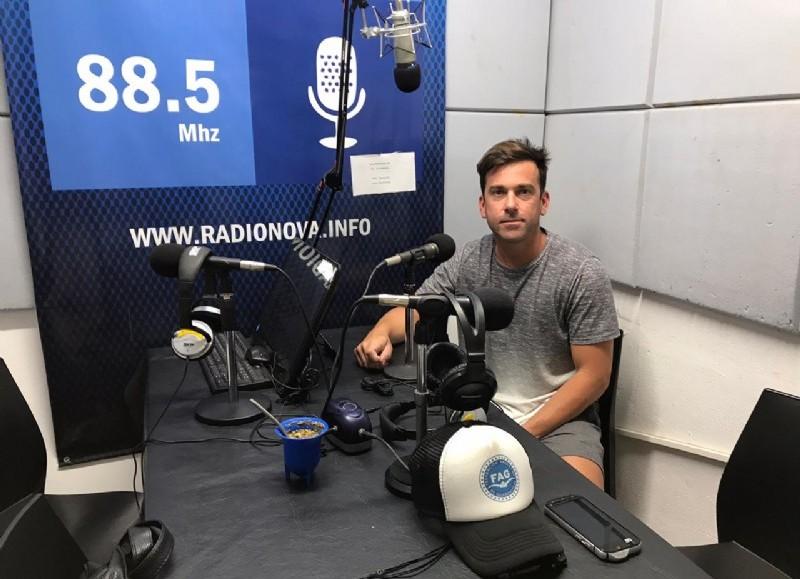 Martín Idiart, en el aire de BerissoCiudad en Radio.