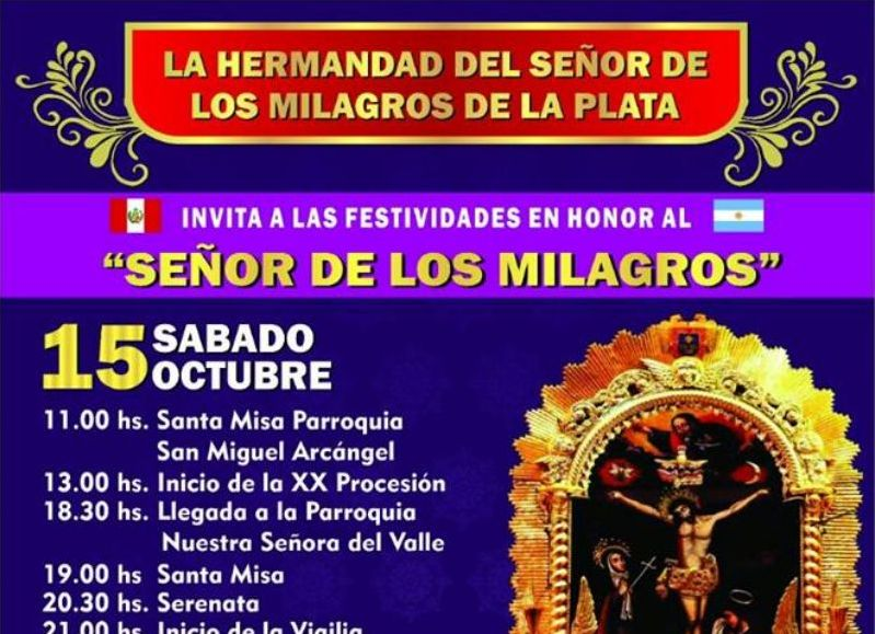 """La colectividad peruana rinde tributo al """"Señor de los Milagros"""""""