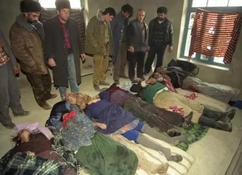 Recuerdo doloroso en el pueblo de Azerbaiyán.
