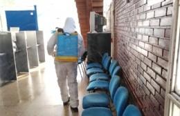 Tareas de desinfección en oficinas de Ingresos Públicos