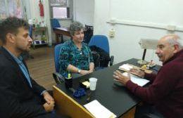 Funcionarios comunales recibieron a la Cruz Roja para trabajar sobre la asistencia humanitaria