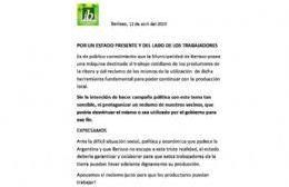 """Identidad Berissense abogó por """"un Estado del lado de los trabajadores"""""""