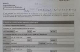 El Sindicato de Trabajadores Municipales solicitó la Personería Gremial a la cartera laboral