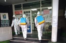 Continúan los trabajos de desinfección en distintos espacios públicos