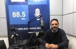 El concejal Mincarelli en el aire de BerissoCiudad en Radio.
