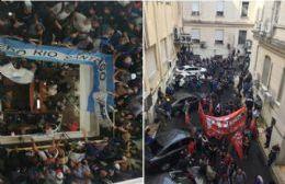 Los trabajadores se tomaron el Ministerio de Economía provincial