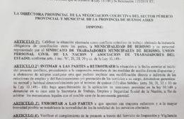 Se decretó la conciliación obligatoria y los municipales levantan las medidas de fuerza