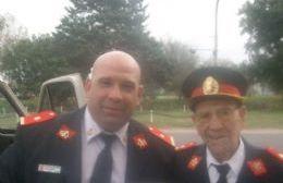 La familia del histórico bombero Luis Jorge acompaña a Roberto Scafati