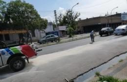 Derrame de aceite hidráulico en plena Montevideo