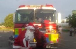 Colecta de caramelos: Papá Noel, la autobomba y bomberos estarán en el playón municipal