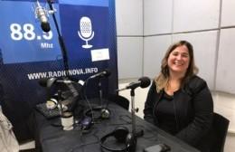 Micaela Guas, en el aire de BerissoCiudad en Radio.