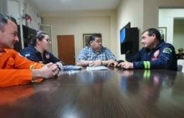 Nedela recibió a los bomberos que participarán del Desafío de Habilidades en Rosario