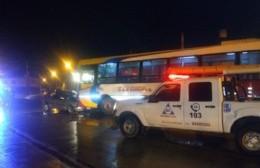Choque frontal en la Avenida Montevideo