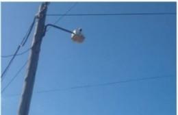 El foco problemático de calle 26 este y 172: Luz sólo por una noche