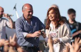 Mario Secco y Cristina Fernández de Kirchner.