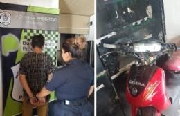 Detenido por circular con una moto con pedido de secuestro