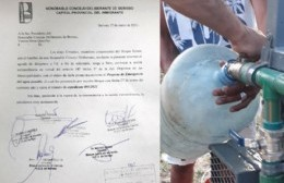 Di Renta presentó proyecto para declarar la emergencia de agua potable y pedir sesión extraordinaria