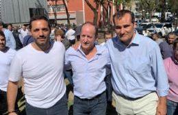 Juan Ignacio Mincarelli, Martín Insaurralde y Guillermo Escudero.