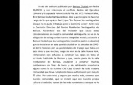 El descargo de Santiagueños