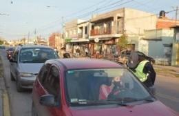 Operativos de control de la cuarentena en distintos puntos de la ciudad