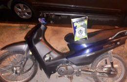 Dos menores demorados por circular en una moto con numeración adulterada