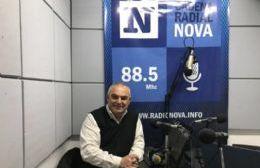 Ángel Celi, en el aire de BerissoCiudad en Radio.