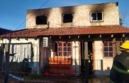 Incendio de una vivienda en 168 entre 29 y 30