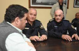 El intendente se reunió con las nuevas autoridades de la policía regional
