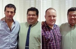 Juan Carlos Herrero (Cultura) y Federico Langone (Seguridad Vial), afuera.
