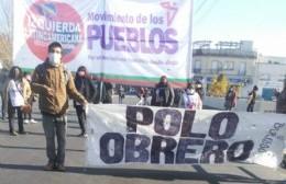 Movilización de organizaciones sociales sobre Avenida Montevideo