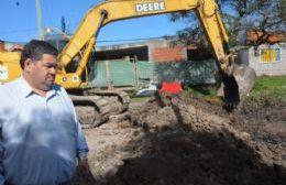 Nedela recorrió las obras de pavimentación de calle 170 entre 27 y 29