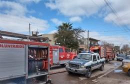 Incendio en el primer piso de una vivienda de 16 entre 125 y 126