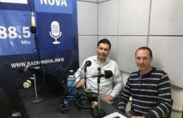Raúl Masulini, en el aire de BerissoCiudad en Radio.