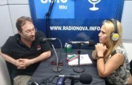 Gustavo Pescetta junto a Silvia Cellini, por Cadena Radial NOVA. (Foto NOVA)
