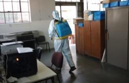 Tareas de desinfección en oficinas del Concejo y dependencias municipales