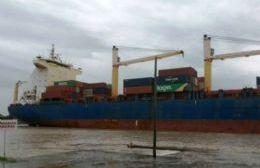 El buque Rita llegó al Puerto La Plata pero los containers estaban vacíos