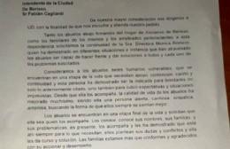 Presentan nota a Cagliardi para pedir por la continuidad de Mónica Romero en el Hogar de Ancianos