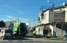Accidente en 18 y 161 deja el saldo de un joven motociclista herido