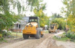 Trabajos de reparación de la calle 35 hacia el Monte