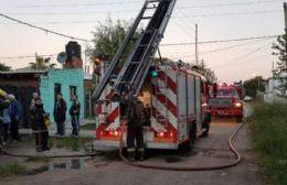 Se incendió una casa en 125 entre 72 y 73