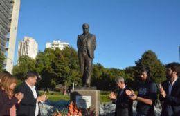 Nedela participó del acto homenaje a Raúl Alfonsín encabezado por el vicegobernador Salvador