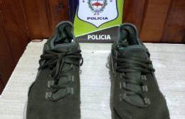 Joven detenido por robar zapatillas
