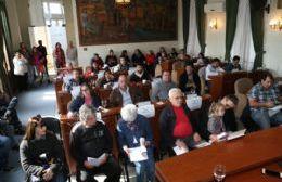 Sesión del Concejo Deliberante.